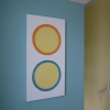 'Happy Circles' on wall