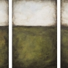 minimalist landscape triptych