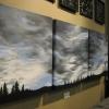 jaffray sky - on wall