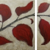 crimson leaves diptych