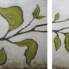 spring leaves diptych