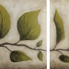 summer leaves diptych