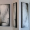 triptych on wall