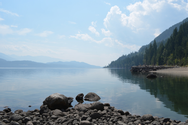 Looking out at Kootenay Lake (a bit smokey, but still lovely!)