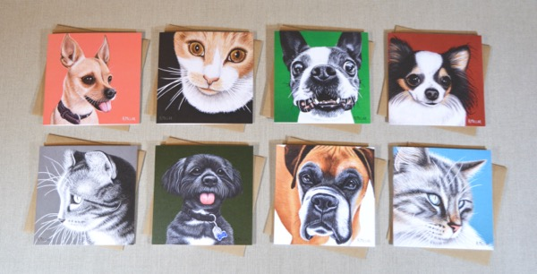 2016 pet art cards