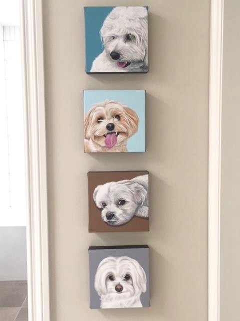 set of 4 on wall